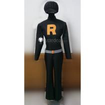 Pokemon Team Rocket Grunts Male Black Cosplay Costume