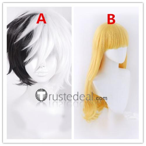 Bungou Stray Dogs Elise Yumeno Kyusaku Blonde White Black Cosplay Wigs