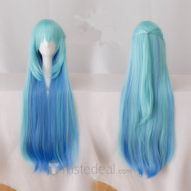 Konosuba God's Blessing on this Wonderful World Aqua Long Blue Cosplay Wig100cm