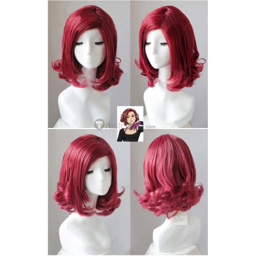 Yuri on Ice YOI Mila Babicheva Wine Red Cosplay Wig