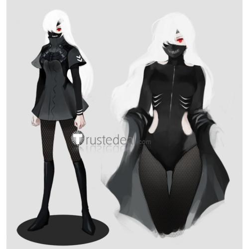 Tokyo Ghoul Ken Kaneki Genderbend Female Black Cosplay Costume