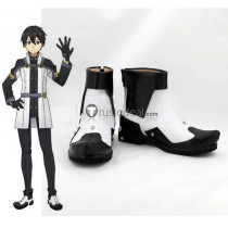 Sword Art Online Ordinal Scale Kirigaya Kazuto Kirito White Black Cosplay Shoes