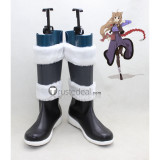 Spice and Wolf Holo Black White Cosplay Boots Shoes