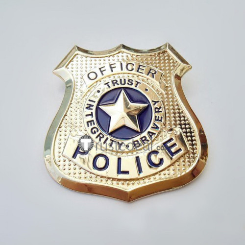 Zootopia Nick Wilde and Judy Hopps Police Officer Cosplay Badge Emblem Props
