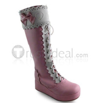 Pink Sweet Bows Lolita Boots