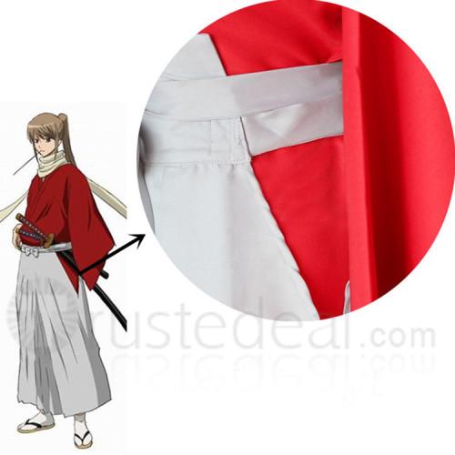 Gintama Movie Be Forever Yorozuya Sougo Okita Red Kimono Cosplay Costume