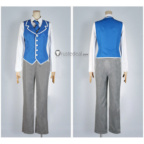 Black Butler Kuroshitsuji Public School Arc Weston College P4 Lawrence Bluewer Cosplay Costume