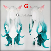 League of Legends LOL Spirit Blossom Ahri Kindred cassiopeia Pink White Blue Purple Cosplay Wigs