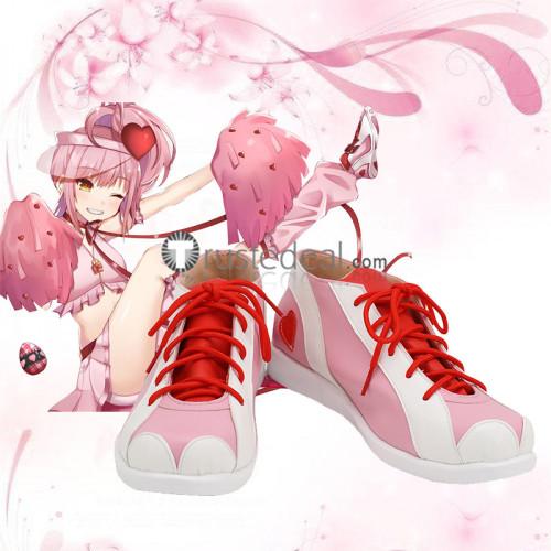 Shugo Chara Amu Hinamori Amulet Heart Pink Cosplay Shoes Boots