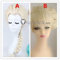 Frozen Disney Princess Elsa Coronation Pale Blonde Cosplay Wigs