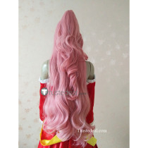 Fairy Tail Meredy Long Pink Ponytail Cosplay Wig 100cm