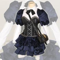 Chuunibyou Demo Koi Ga Shitai Rikka Takanashi Blue Lolita Dress Cosplay Costume