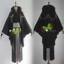 Touken Ranbu Tsurumaru Kuninaga Genderbend Female Black Cosplay Costume