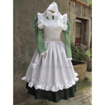 Hetalia Axis Powers Hungary Little Elizaveta Green White Maid Cosplay Costume1