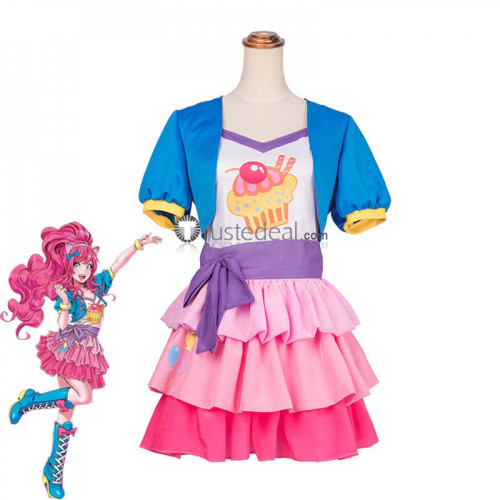 My Little Pony Friendship Is Magic Pinkie Pie Blue Pink Cosplay Costume