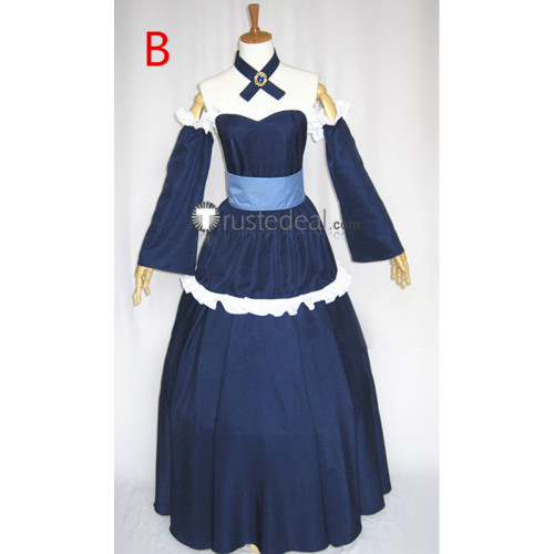 Fairy Tail Mirajane Strauss Blue Dress Cosplay Costume