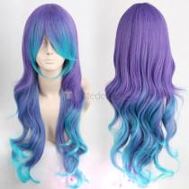Vocaloid ANTI THE∞HOLiC Luka Megurine Long Purple Blue Cosplay Wig