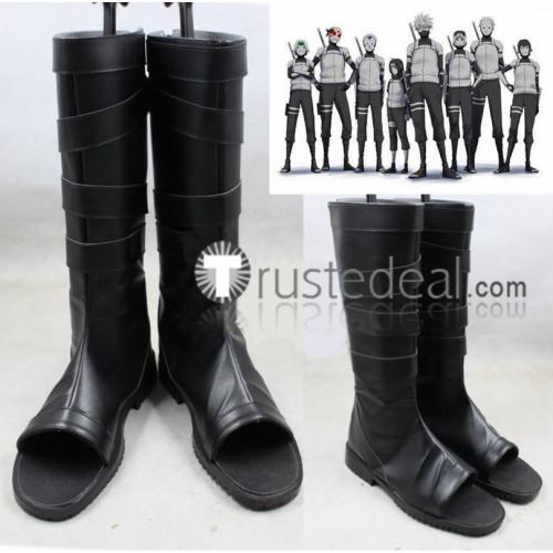 Naruto Kakashi Hatake Anbu Black Cosplay Boots Shoes