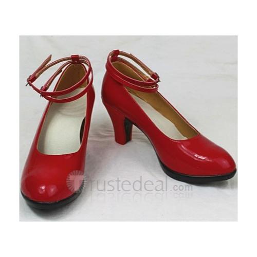 D.Gray-man Lenalee Lee Red Cosplay Shoes Heels