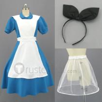Alice in Wonderland Alice Maid Cosplay Costume