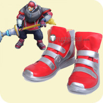 League of Legends SKT T1 Jax Red Cosplay Boots Shoes