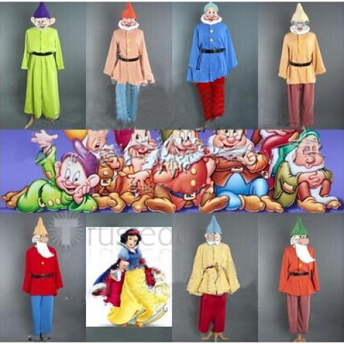 Snow White and the Seven Dwarfs Doc Grumpy Happy Sleep Bashful Sneezy Dopey Cosplay Costume