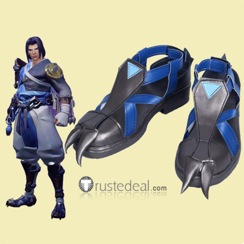 Overwatch Hanzo Shimada Young Master Skin Cosplay Shoes Boots