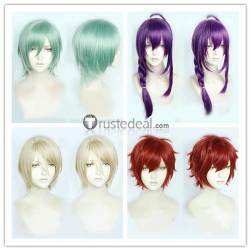 Ensemble Stars Enstars ALKALOID Hiiro Amaji Mayoi Ayase Aira Shiratori Tatsumi Kazehaya Idol Red Purple Cosplay Wigs