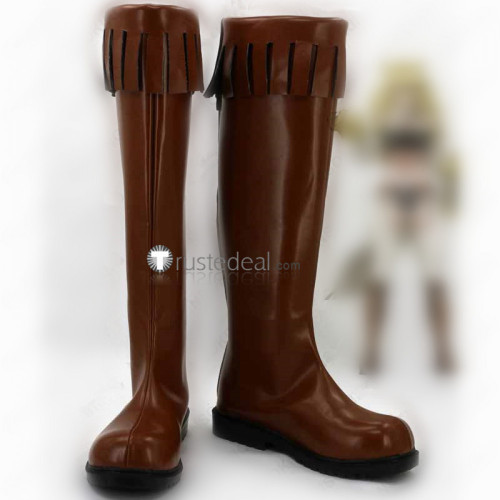 Akame ga Kill Leone Brown Cosplay Shoes Boots
