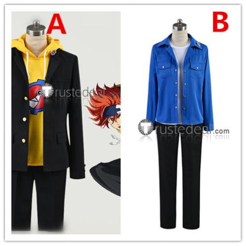 SK8 the Infinity SK∞ Reki Kyan Langa Hasegawa Black Coat Yellow Hoodie Blue Cosplay Costumes