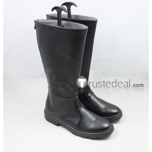 Fullmetal Alchemist Roy Mustang Black Cosplay Boots Shoes