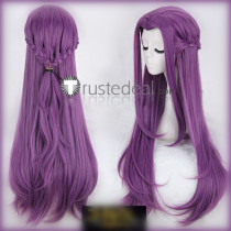 Code Geass Cornelia li Britannia Purple Braids Cosplay Wig