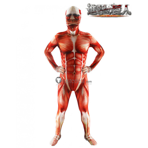 Attack on Titan Shingeki no Kyojin Giant Colossal Titan Suit Cosplay Costume