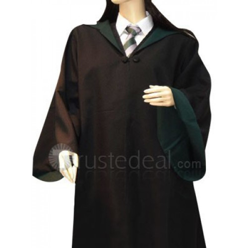 Harry Potter Slytherin Cosplay Overcoat and Necktie and Shirt Set