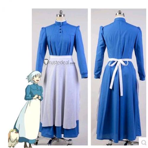 Howl's Moving Castle Sophie Hatter Blue Cosplay Costume