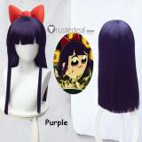 Pop Team Epic Poputepipikku Pipimi Blue Purple Black Cosplay Wigs