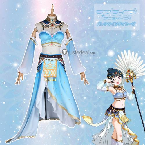 Love Live Sunshine Aqours Dancer Yoshiko Ruby Hanamaru Mari Dia Kanan You Chika Riko Cosplay Costumes