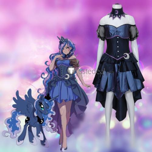 My Little Pony Friendship Is Magic Human Princess Luna Dress Cosplay Costume