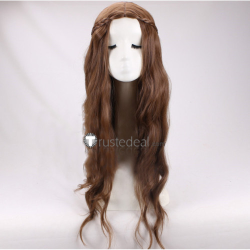 Game of Thrones Queen Margaery Tyrell Braid Brown Cosplay Wig