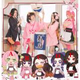 Kimetsu no Yaiba Demon Slayer Nezuko Kanao Shinobu Mitsuri Muzan Maid Kimono Cosplay Costumes