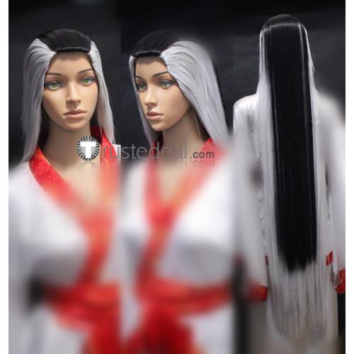Mortal Kombat Sindel Silver Black Cosplay Wig