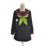 Kimetsu no Yaiba Demon Slayer Nezuko Kamado Makomo School Acedemy Uniform Cosplay Costumes