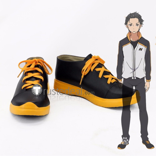 Re Zero Kara Hajimeru Isekai Seikatsu Subaru Natsuki Tracksuit Sports Cosplay Shoes Boots