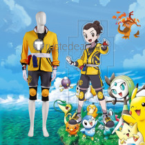 Pokemon Sword and Shield Isle of Armor Victor Cosplay Costume