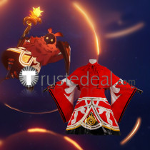 Genshin Impact Pyro Abyss Mage Red Cosplay Costume