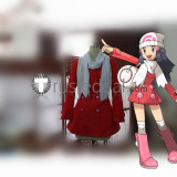 Pokemon Dawn Red Platinum Red Outfit Cosplay Costume