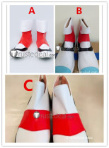 Pokemon Green Leaf Kris White Red Cosplay Shoes Boots