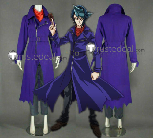 Yu-Gi-Oh! ARC-V Shun Kurosaki Purple Cosplay Costumes