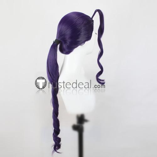 Street Fighter Rose Purple Cosplay Wig