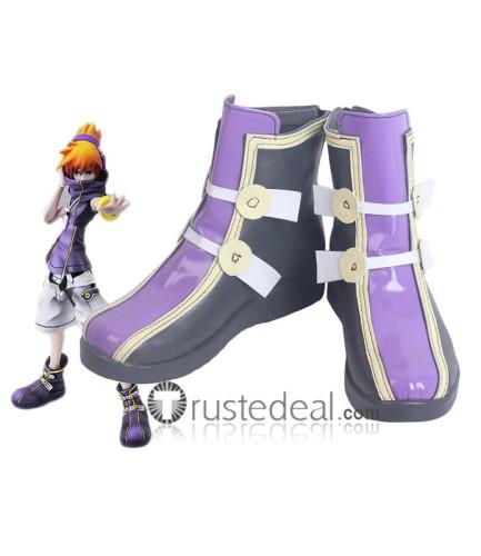 The World Ends with You Neku Sakuraba Raimu Bito Rhyme Shiki Misaki Sho Minamimoto Cosplay Shoes Boots